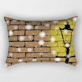 Lamplight Christmas Rectangular Pillow