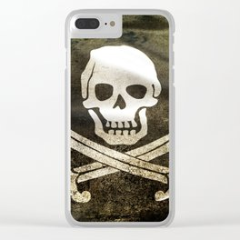 Pirate Skull in Cross Swords Clear iPhone Case