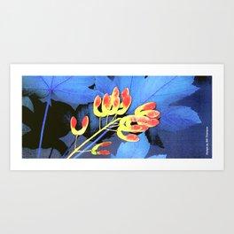 Blue Maple Leaf Mug Art Print