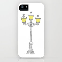 French Quarter Street Lamps iPhone Case