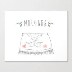 mornings cat Canvas Print