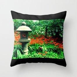 Japanese Tea Garden Throw Pillow