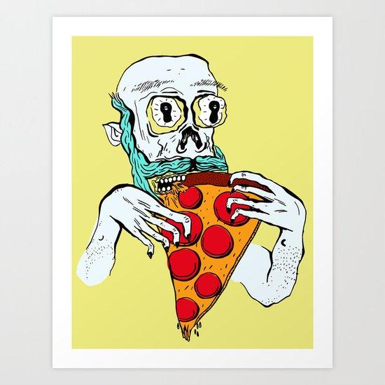 Pizza Zombie Art Print