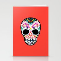 mexican Stationery Cards featuring Mexican Skull by Blank & Vøid