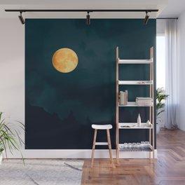 Full Moon Shines Overnight #decor #society6 #buyart #homedecor Wall Mural