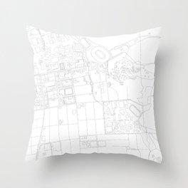 Abstract Map of UC Berkeley Campus Throw Pillow