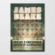 James Blake poster  Canvas Print