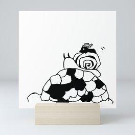 Me and snail and turtle Mini Art Print