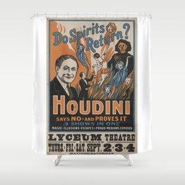 Houdini - vintage poster, spirits Shower Curtain