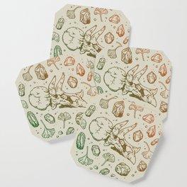Triceratops Rocks! | Leaf Green & Pumpkin Spice Ombré Coaster