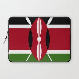 Kenya flag emblem Laptop Sleeve