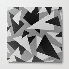 Triangles Geometric Aesthetic Pattern Metal Print