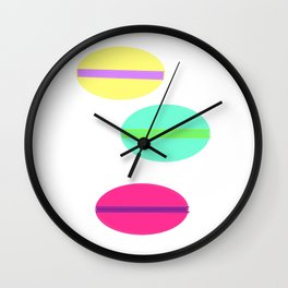 Macaron...C'est si Bon! Wall Clock