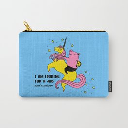 Job And Unicorn Carry-All Pouch