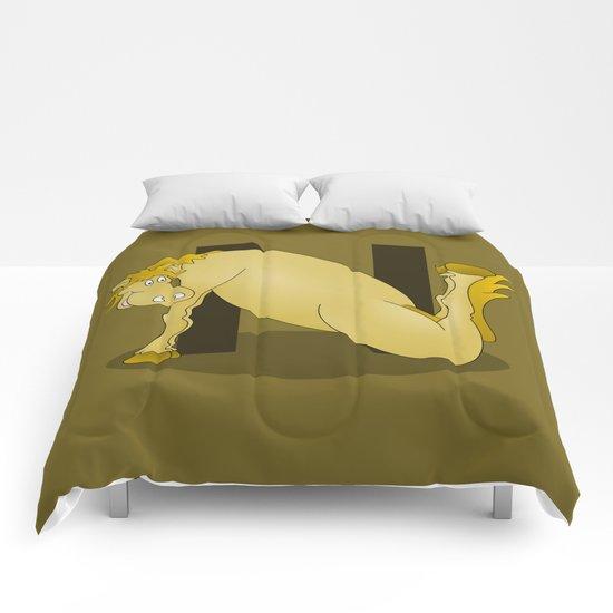 Pony Monogram Letter N Comforters