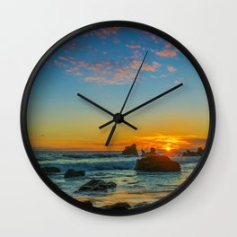 Sunset at Little Corona Wall Clock