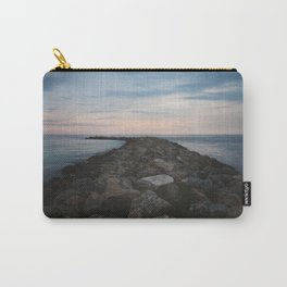 The Jetty at Sunset - Vertical Carry-All Pouch