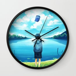 Watch The Tardis Flying Wall Clock