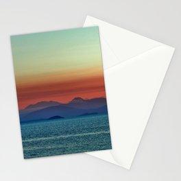 Sunset on Lake Taupo Stationery Cards