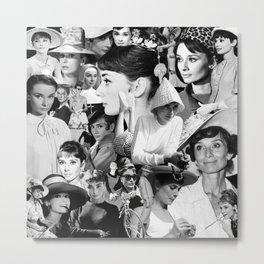 Audrey Hepburn Montage 1 Metal Print