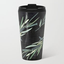 Eucalyptus leaves on chalkboard Travel Mug