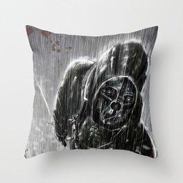 Steel Face Throw Pillow
