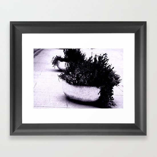 Purple flower pot Framed Art Print