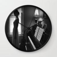 princess bride Wall Clocks featuring Lonely by Jamie Berg