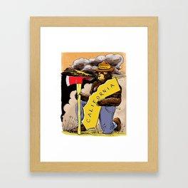 We love you California ~ Color Framed Art Print