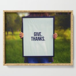 Give Thanks Sign (Color) Serving Tray