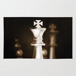 Chess-Sliver King Rug