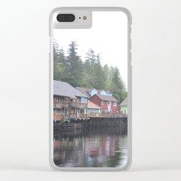 Creek Street, Ketchikan, AK Clear iPhone Case