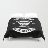 sons of anarchy Duvet Covers featuring Sons Of Heisenberg by DesignLawrence