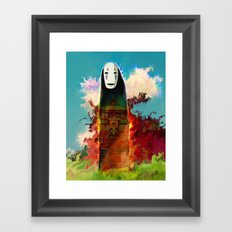 no face Framed Art Print