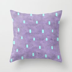 Purple Cute Simple Turquoise Pattern Throw Pillow