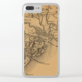 Map Of St Helena Sound 1881 Clear iPhone Case