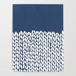 Half Knit Navy Poster