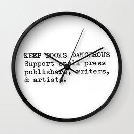 Keep Books Dangerous Wall Clock