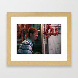 Meat Man Framed Art Print