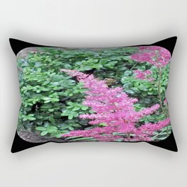 Pink Astilbe Rectangular Pillow