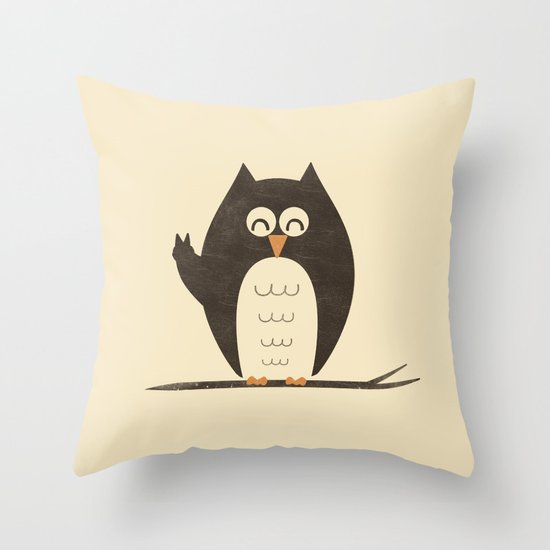 Peace Owlt Throw Pillow
