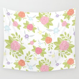 Garden of Fairies Pattern Wall Tapestry