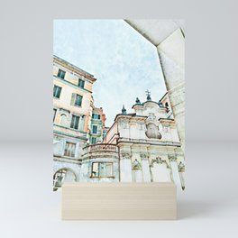 Old world architecture. Mini Art Print