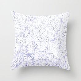Secret places I - handmade blue map Throw Pillow