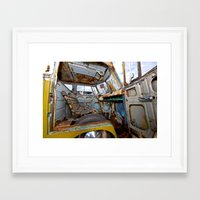 vw bus Framed Art Prints featuring VW BUS PARK BENCH by Aaron Joslin Photography