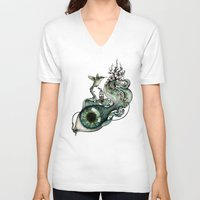 inspiration V-neck T-shirts featuring Flowing Inspiration by Enkel Dika
