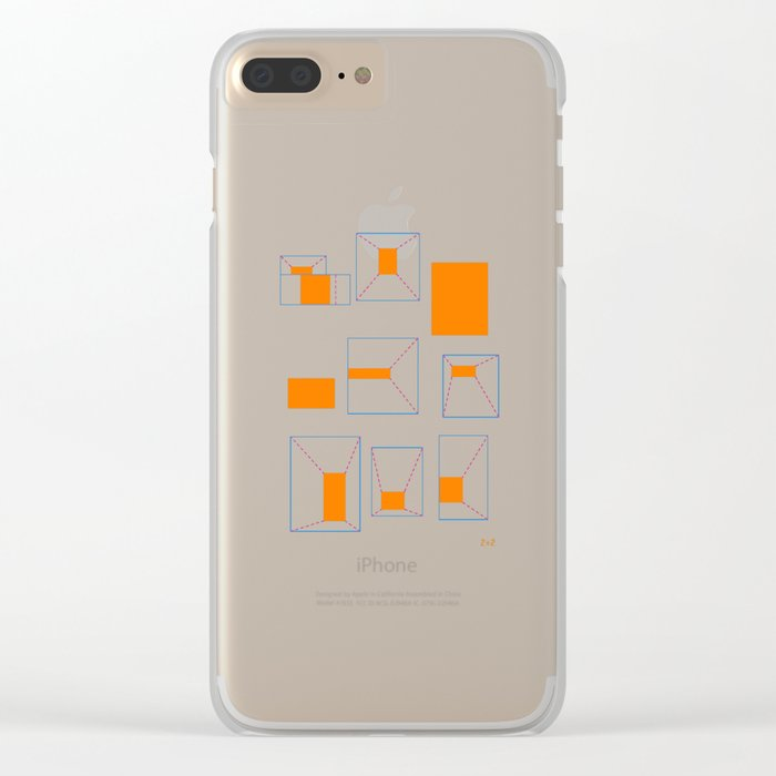 ORANGE ABSTRACT LIGHTS Clear iPhone Case