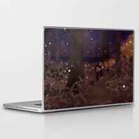 fireflies Laptop & iPad Skins featuring fireflies by Lara Paulussen