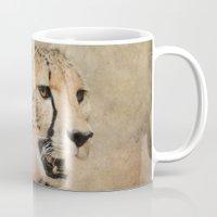 cheetah Mugs featuring Cheetah by Jai Johnson