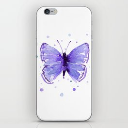 Butterfly Painting Purple Violet Abstract Butterfly iPhone Skin